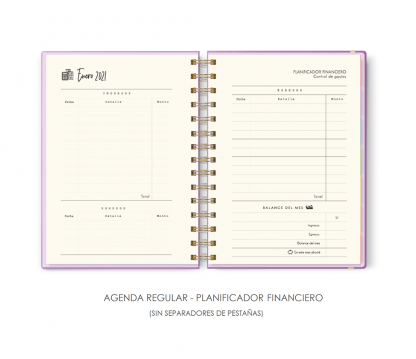 AGENDA REGULAR - PLANIFICADOR FINANCIERO